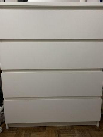 Cómoda malm branca 4 gavetas