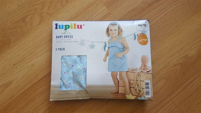 . Комплект Платье + трусики + повязка на голову Lupilu на 1-2 года