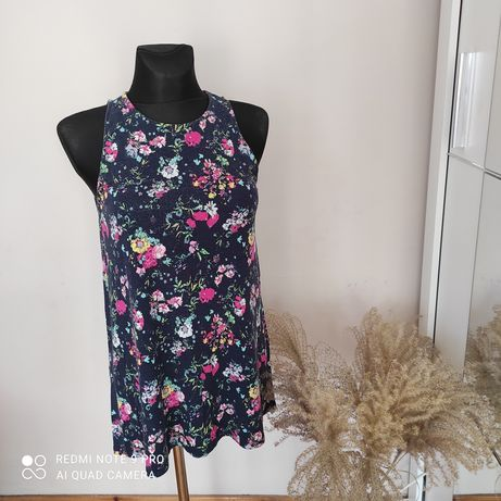 Sukienka tunika kwiaty 38