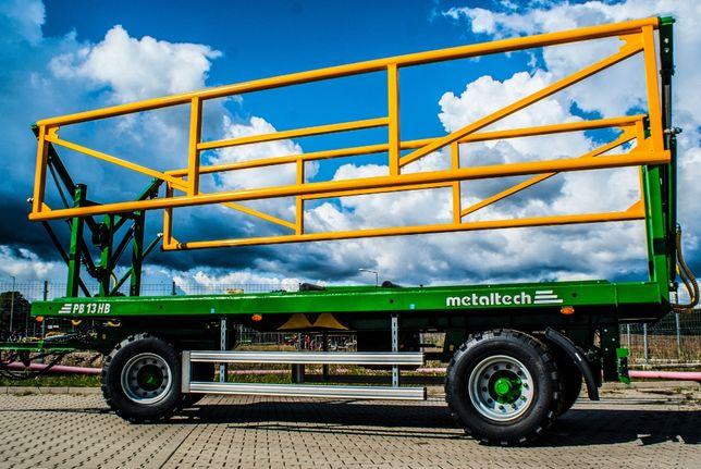 Przyczepa do przewozu bel platformowa METAL-TECH PB HB 13 Ton | Pronar
