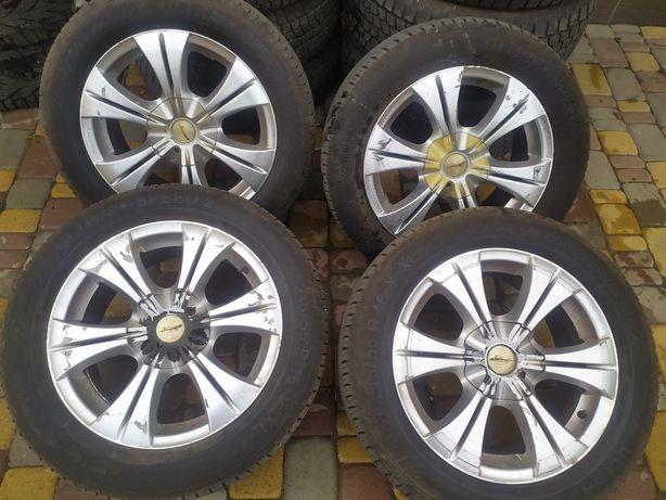 Продам комплект летних колёс с дисками в сборе 215/55 R16