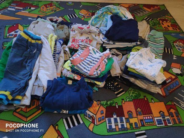 paka paczka zestaw ubrań ciuszków dla chłopca chłopiec 86