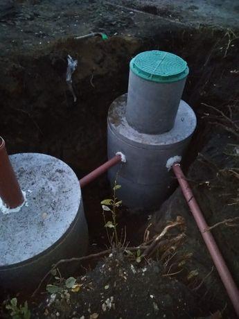 Сливные ямы и колодцы со своими ж/б кольцами.Скважины под ключ.
