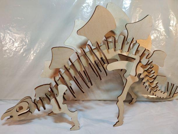 Конструктор, 3D пазл из дерева, Травоядные Динозавры, Набор из 5 видов