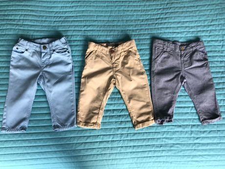 Spodnie x3 H&M, Smyk rozm.68