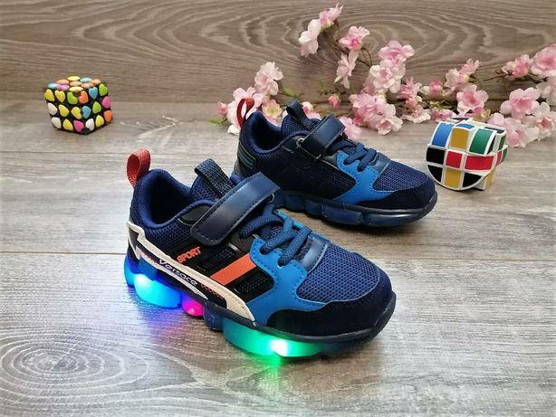 Кроссовки светящиеся. 29 размер