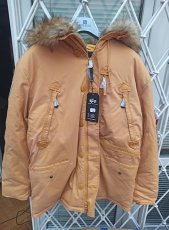 Kurtka Parka zimowa Polar Jacket Alpha Industries Żółta 3XL