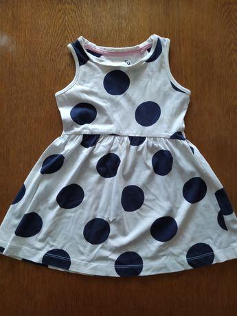 Tani zestaw 5 sukienek  na lato, 9-12 miesięcy