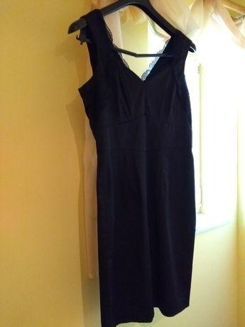 Czarna sukienka H&M wizytowa 38