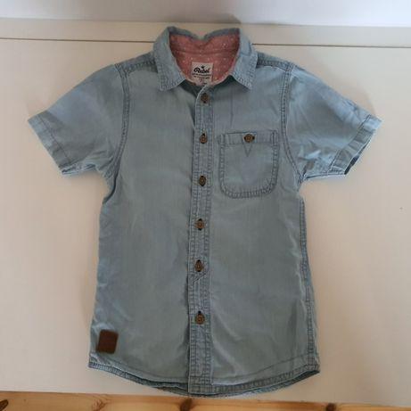 Рубашка котон голубая 7-8 лет 128 см, состав- хлопок