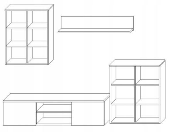 Meblościanka rtv komoda półka szafka stojąca i wisząca