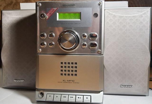 Mini Wieża Sharp Xl-Mp10 Mp3 Radio Cd Kaseta Okazja !!!