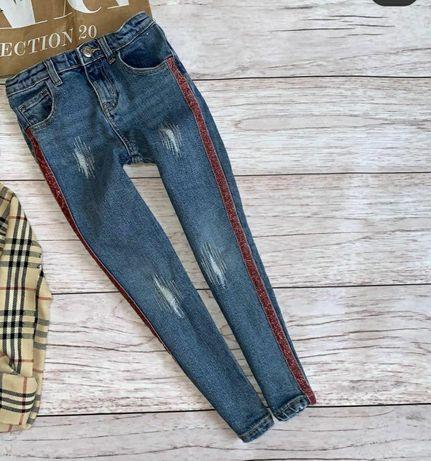 Джинси / штани / джинсові штани 104-110см.для дівчинки