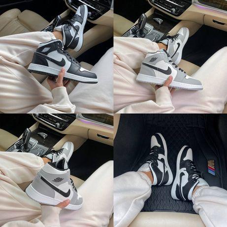Кроссовки Nike Air Jordan 1 Retro High Fur! 36-45! На меху! Кожа!