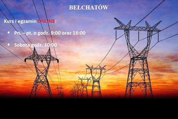 BEŁCHATÓW uprawnienia SEP sepowskie G1/2/3 kursy i egzaminy ONLINE