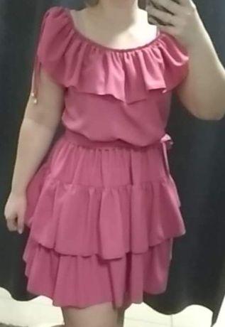 Liliowa sukienka