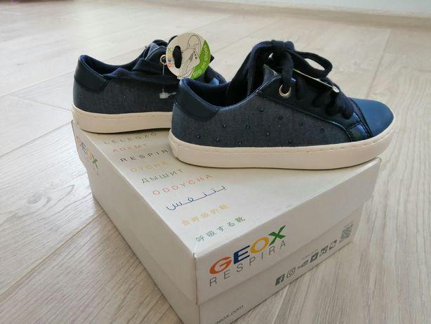 Новые кеды для девочки, мокасины Geox, кеди, кроссовки Geox 27 размер