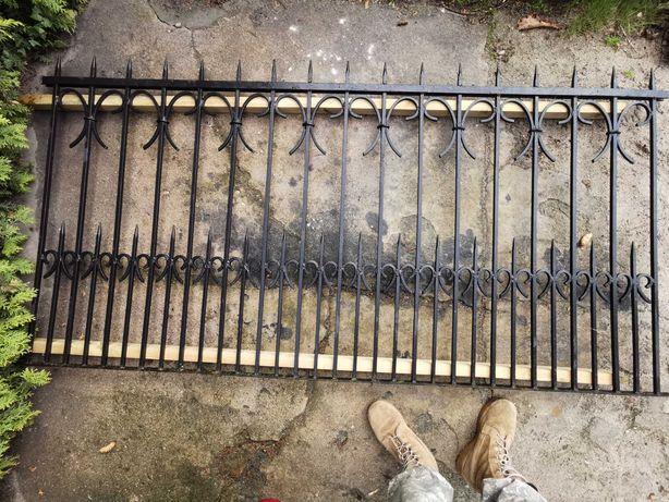 Płot kuty z prętów, brama, furtka dł. ok.18m, 6 paneli, brama, furtka