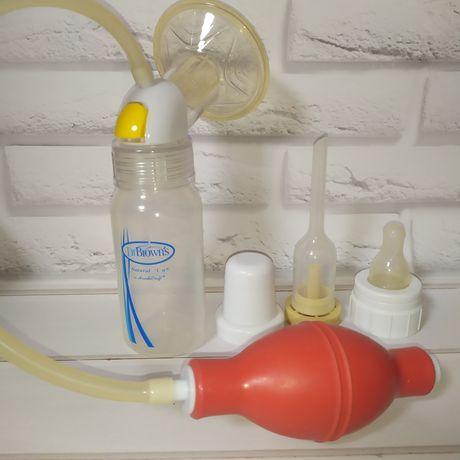 Молокоотсос с грушей ручной Canpol babies бутылочка Dr Brown's avent