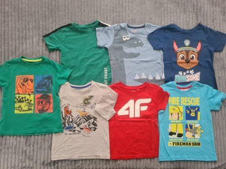 Koszulki z krótkim rękawem r 110 4f reserved Disney 7szt