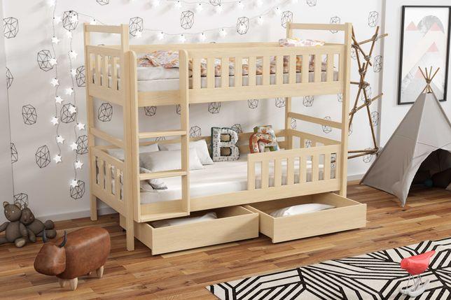 Łóżko piętrowe dla 2 dzieci WOJTEK 8 - kolory do wyboru! Materace