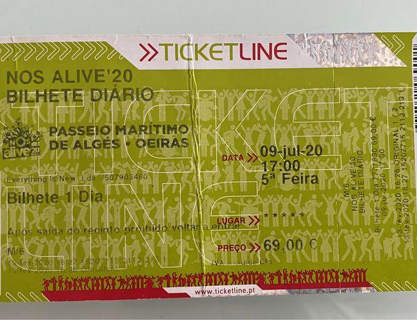 Bilhete diário NOS ALIVE'22
