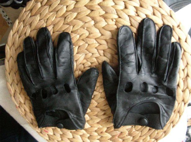 Skórzane rękawice rajdowe M&S do samochodu auta rękawiczki dotykowe