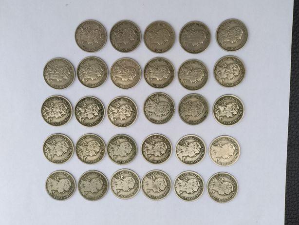 """Colecção de moedas de 50 centavos """"alpaca"""" de Portugal."""