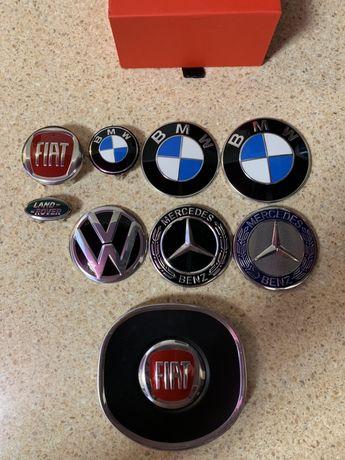 Автомобильные значки,логотипы Audi,BMW,Fiat,Mercedes,Land Rover,Volksw