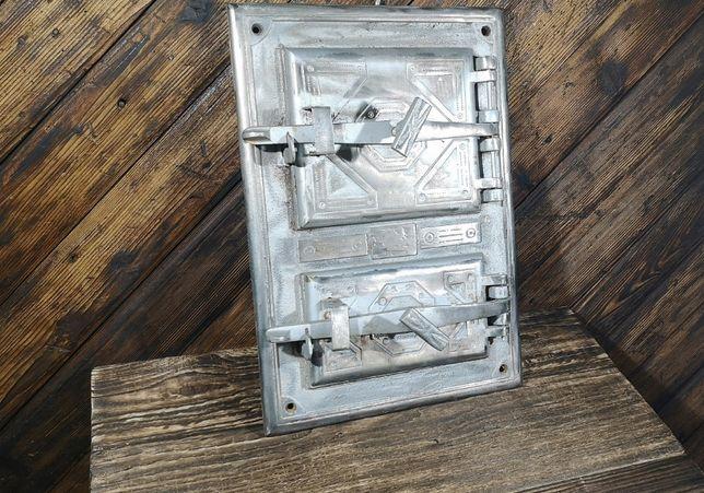 Stare żeliwne drzwiczki do pieca wędzarnia wysyłka