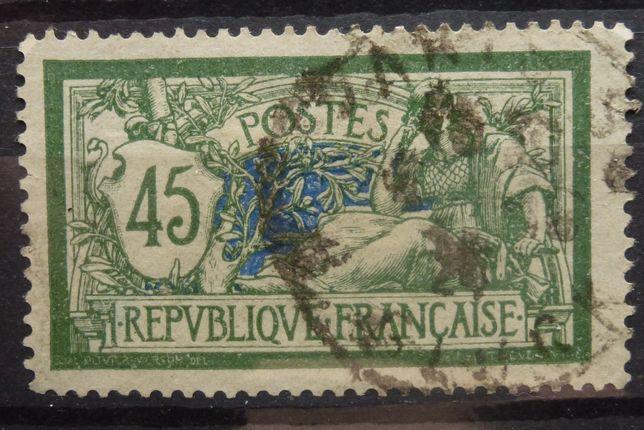 Znaczki pocztowe - Francja rok 1906 Mi 122 kasowany, z podlepką.