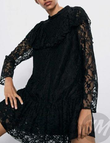 Платье чёрное кружевное Zara L