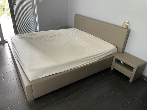 Łóżko sypialniane z pojemnikiem na pościel 180x200