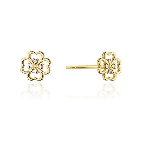 Złote kolczyki z brylantami 0.04 ct pr. 585 SKLEP diamenty KONICZYNKI