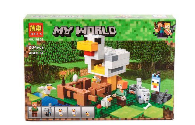 """Конструктор Bela Minecraft 10809 """"Курятник"""", 204 элемента, лего"""
