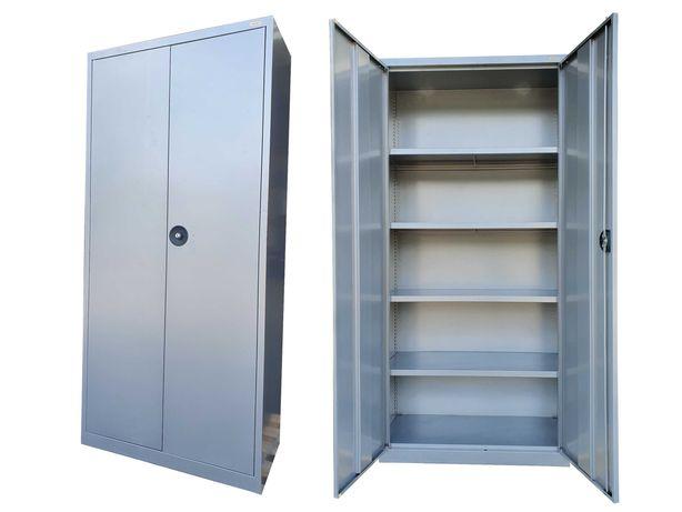 Szafa warsztatowa metalowa 2-drzwiowa 195x92x40 cm