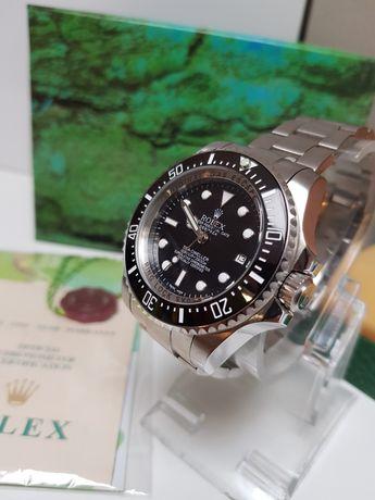 Zegarek męski Rolex Deepsea automatyczny Nowy PREMIUM AAA srebrno czar