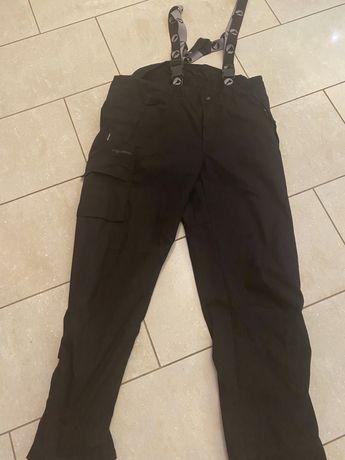 Stormberg spodnie zimowe XL czarne, szelki extra stan