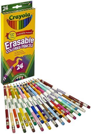 Crayola Крайола карандаши 24 цвета с ластиками