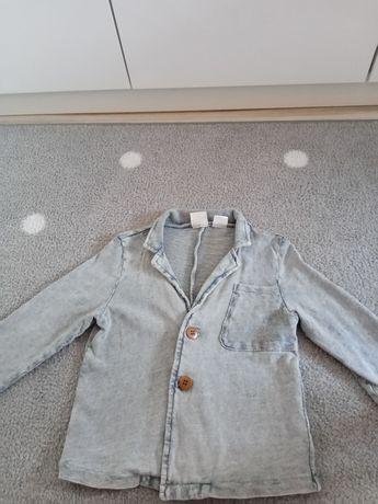 Jak nowa Zara marynarka bluza narzutka efekt sprany jeans 104