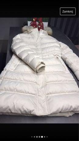 Calvin klein płaszcz ecru jasny krem 38 M nowy bez metki