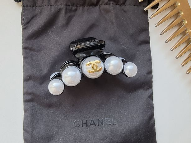 Заколка для волос краб резинка повязка Chanel