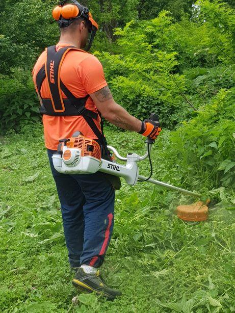 Koszenie trawy, wertykulacja, karczowanie wysokiej trawy, rębak