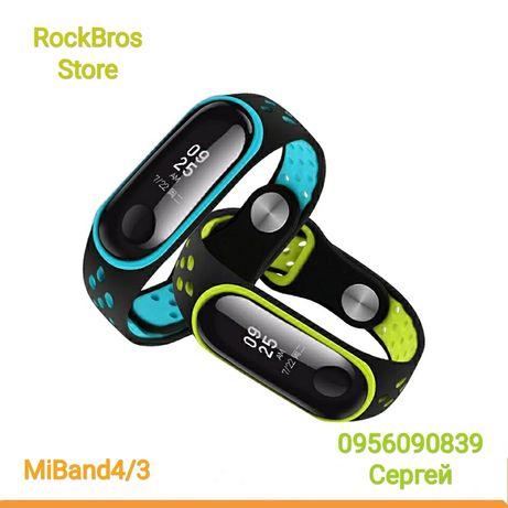 Перфорированный силиконовый ремешок, браслет Miband 4/3 Mi Band4 3
