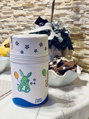 Pokrowiec termiczny na butelke mleka dla dzieci + dwie pozytywki