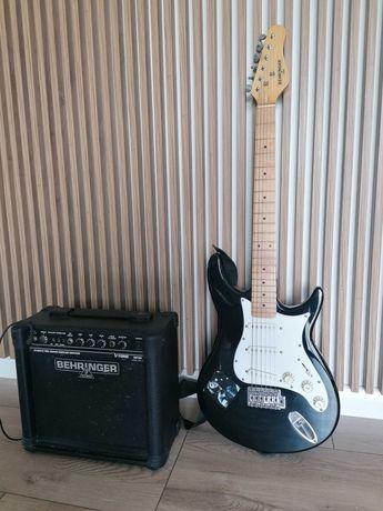 Gitara elektryczna Behringer zestaw wzmacniacz 15 watt v-ton gm108