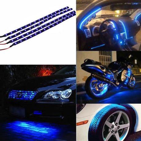 Fitas LED Vermelhas Azuis ou Brancas com 30cm. Automovel. Novo