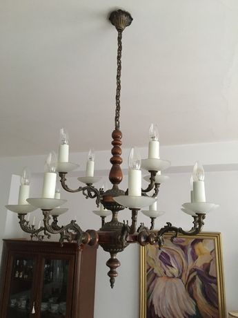 Lampa/Zyrandol mosięzny