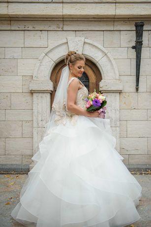 Свадебное платье пышное айвори весільна сукня