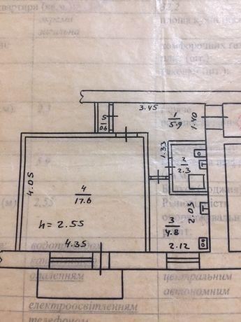 Продам 1-ную район ,, Семь Ветров'' 105. 4-й этаж